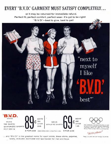 Christmas bad ads bvd