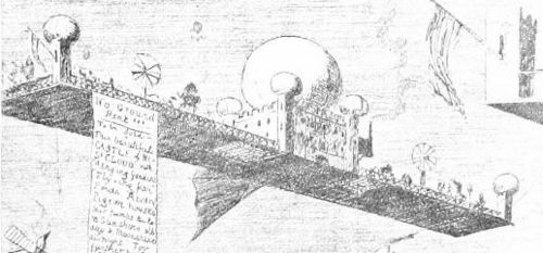 Aviation of the future--castle in sky