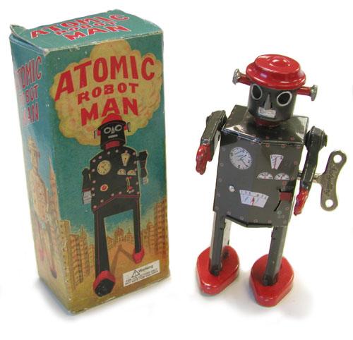 Atomic toy robot man