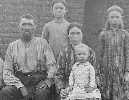 Butcher new settlers on prairie det