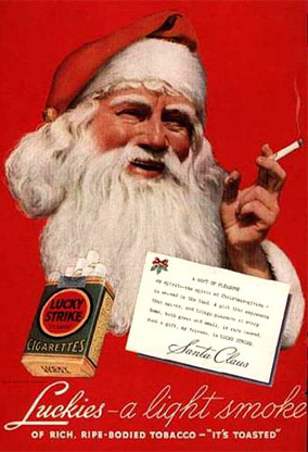 Christmas ads bad ciggies detail