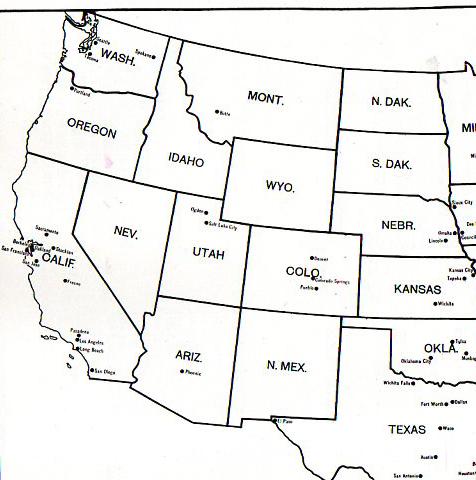 Test Your Geography Knowledge Western USA States Lizard Point - Western us states map