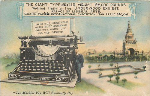 Typewriter giant