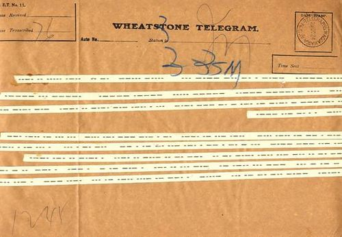 Wheatstone telegram