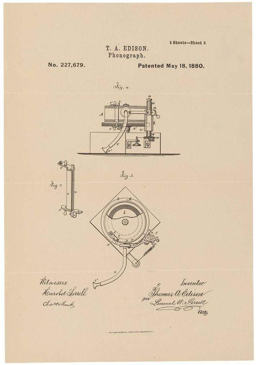PhonographPatentEdison1880
