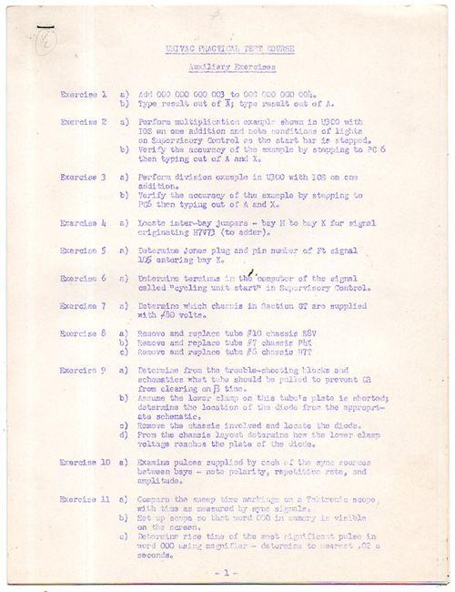 UNIVAC Tests528