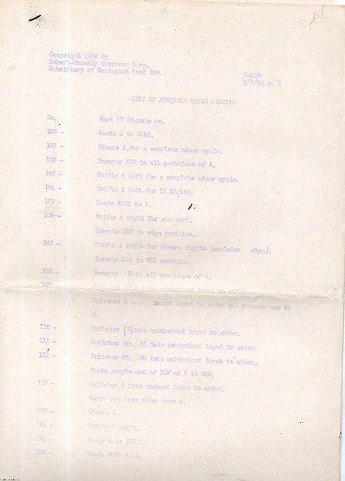 UNIVAC Tests529