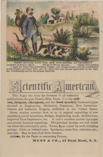 Scientific American--frog hunting gun-toting dog