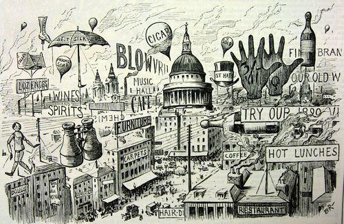 Advert posters London 1890