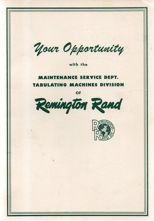 Remington rand holes061