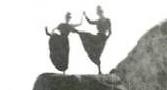 WOmen--dancing on ledge detail