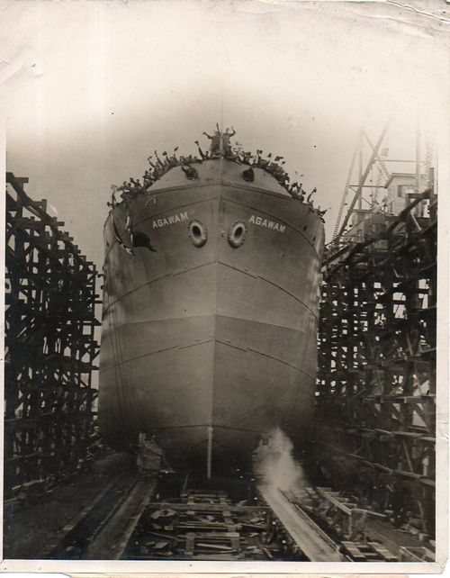 WWI Photo--ship launch127
