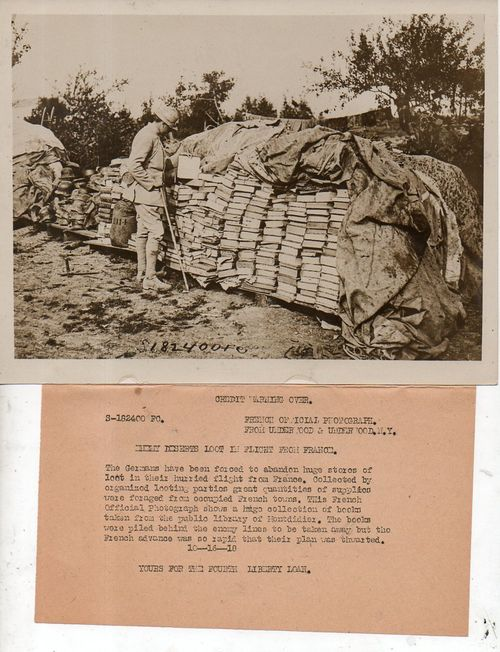 WWI photos--looted books111