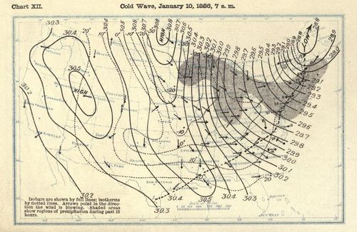 Weathermaps cold front