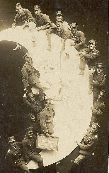 WWI--soldiers on moon