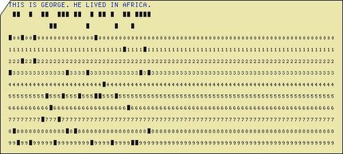 Punch card george