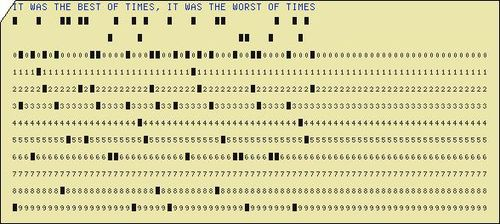 Punch card dickens