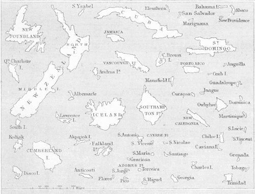 Mountain comparative detail islands