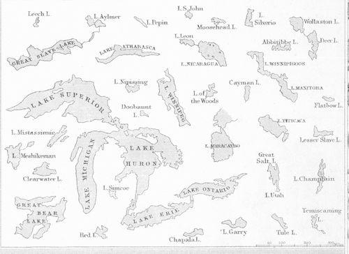 Mountain comparative detail lakes