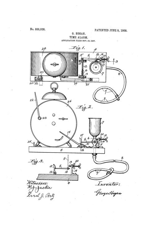 Patent--time alarm