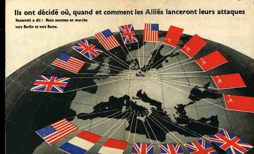 Nazi Propaganda Map in French