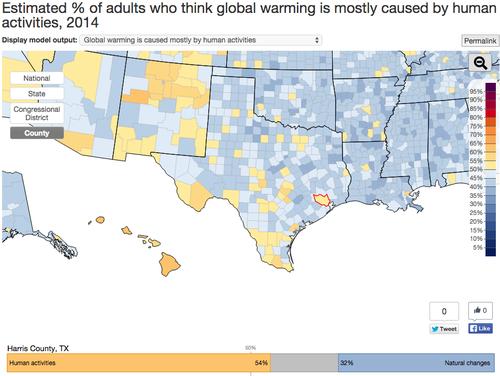Data map global warming