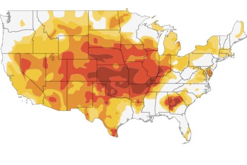 Data map interactive drough map
