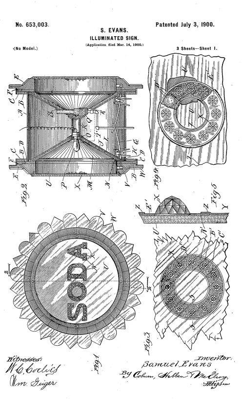 Dada found patent e soda
