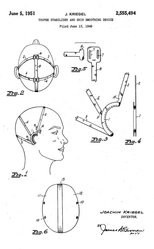 Patent--head bra title full