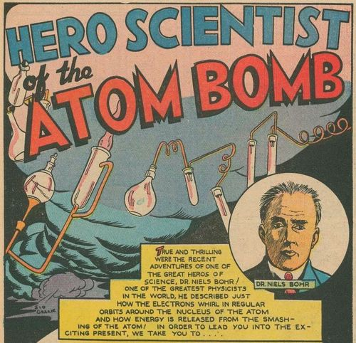 Scientisits in comics Bohr