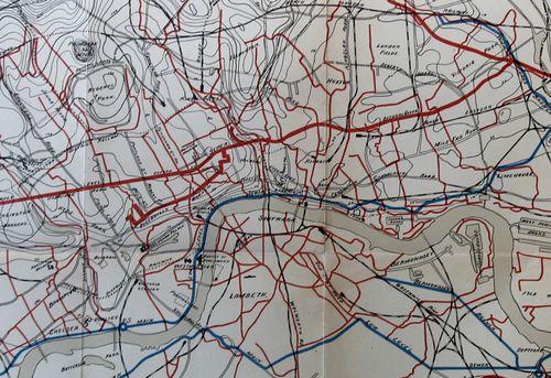 London Map Sewer detail