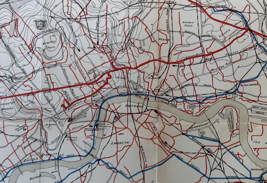 London Map Sewer detail JF Ptak Science