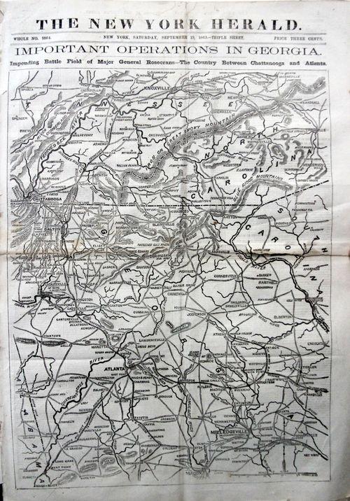 Civil War NY Herald Map