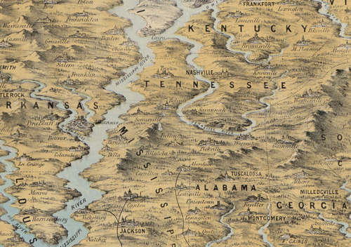 Maps--Civil War--unusual perspective MS river