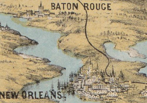 Maps--Civil war--Unusual Persp New Orleans