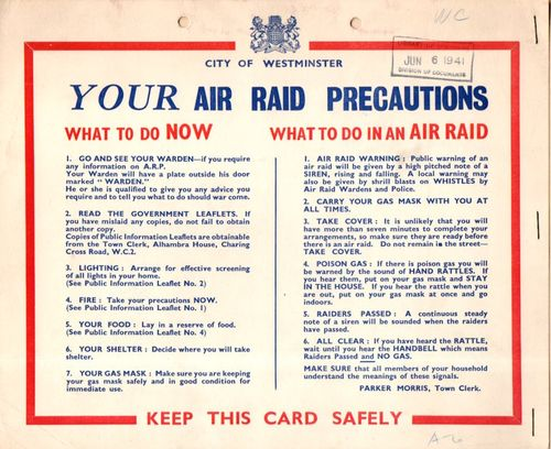 WWII Air Raid Precaution068