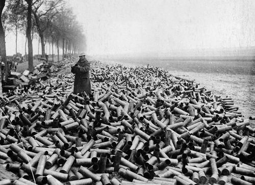 WWI Project !05 mm shells single day