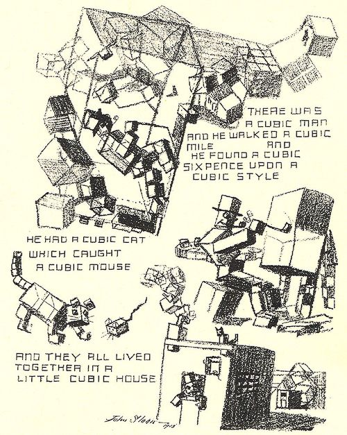 Cubist cartoon