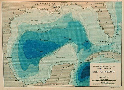 Bathymetric map gulf