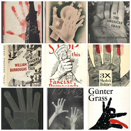 Books hands montage