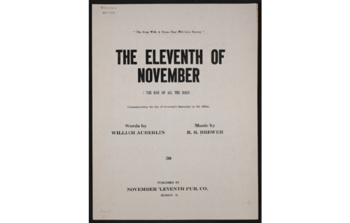 November 11th sheet music