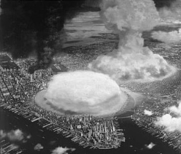 Atomic bomb US cities Manhattan