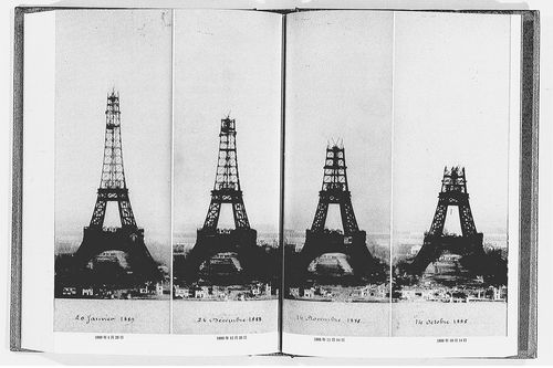 Eiffel tower under construction sequence