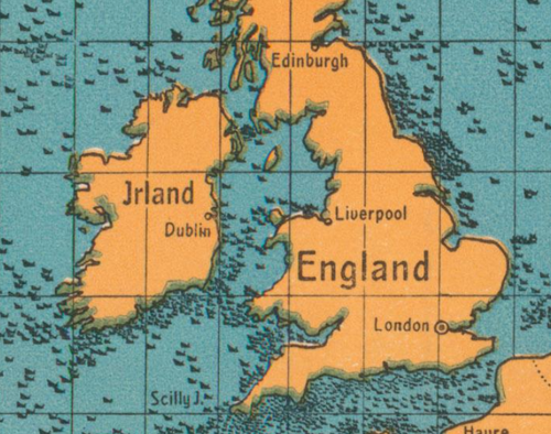 Maps U-boat WWI sinking