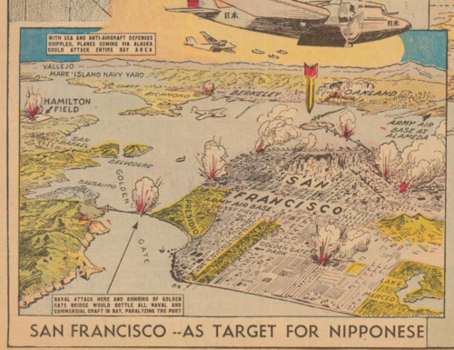 Maps Japan attacks San Fran