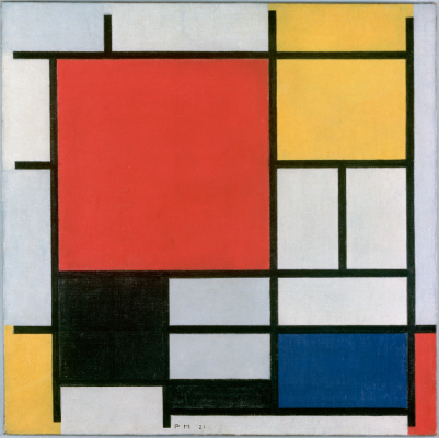 Mondrian black square