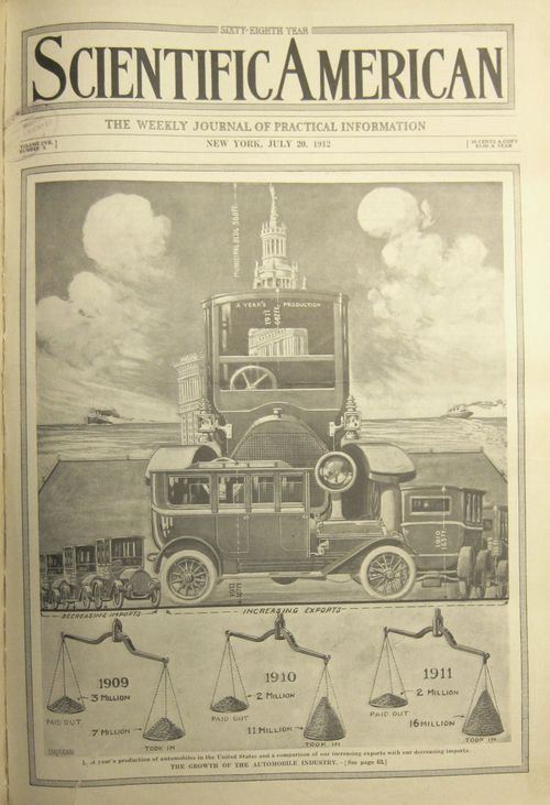 Scientific American Gigantic car 1912