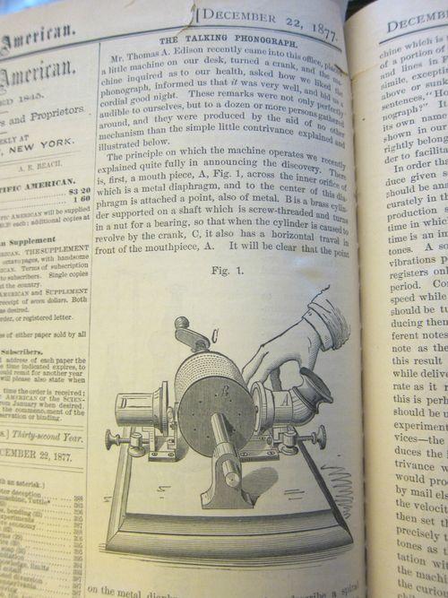 Edison 1877 phonograph