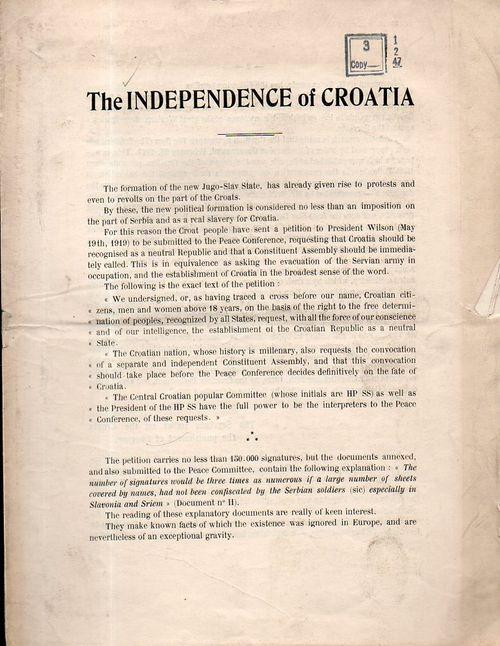 Croatia, Independence of151