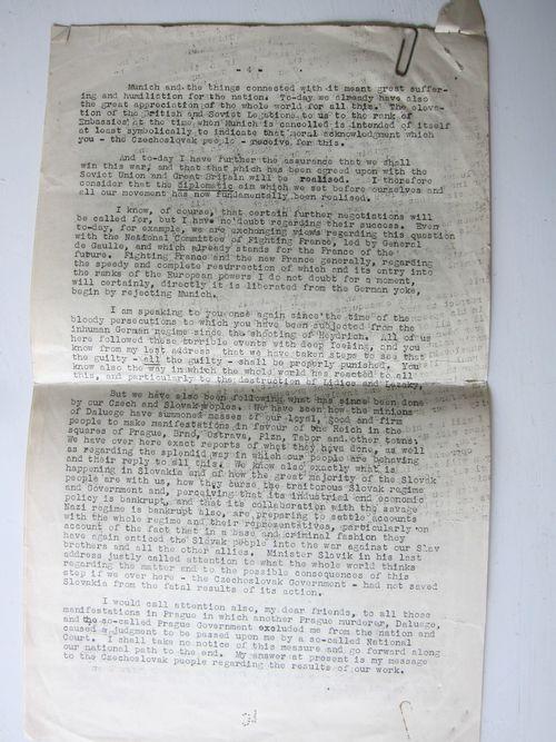 Benes 1942 back
